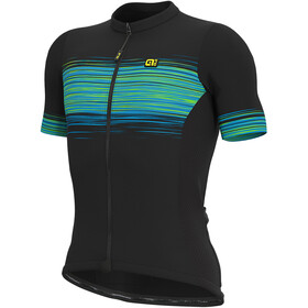 Alé Cycling Solid Start Jersey korte mouwen Heren, black/fluo green